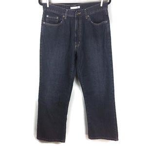 Geoffrey Beene Straight Leg Dark Wash Jeans Sz 32
